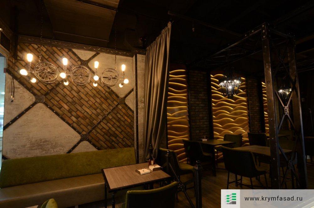 Внутренняя отделка ресторана