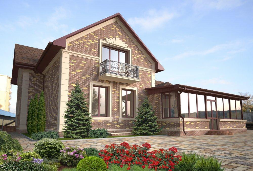 Проект дома г.Евпатория (Фасадный декор, дизайн)